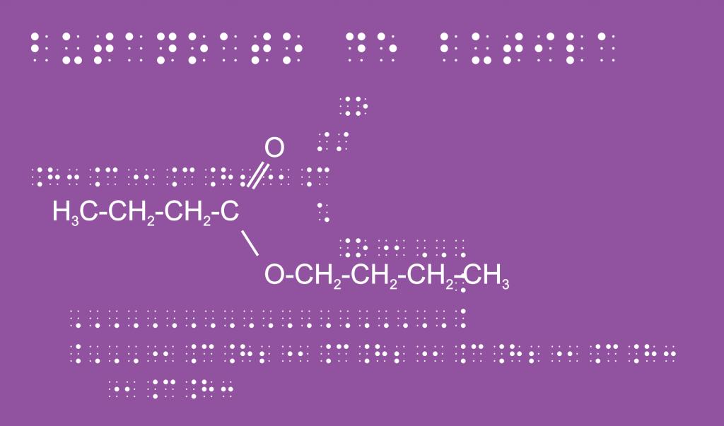 representação química em braille
