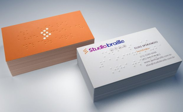 Cartão de visitas em braille